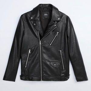 Zara Faux Leather Jacket in Large